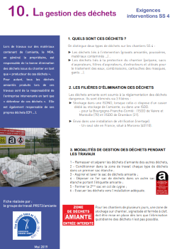 Interventions en présence d'amiante (sous-section 4) : publication de documents de synthèse